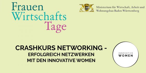 FrauenWirtschaftsTage – Crashkurs Networking: Erfolgreich Netzwerken 14.10.20 – ONLINE!